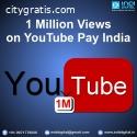 1 million views on youtube pay india