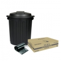 75 Litre Black Extra Heavy Duty Garbage