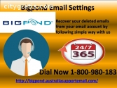 Reset Bigpond Email Settings 1800980183