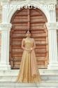 Beige Color Heavily Drape Bridal Wear