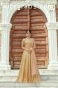 Beige Color Heavily Drape Bridal Wear