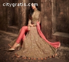 Beige Heavily Decorated Designer Suit
