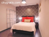 Excellent furnished apartment for two pe