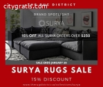 Get Surya Rugs for Sale - 15% Flat Disco