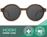 Handmade Hodki Dark Oak Sunglasses at af
