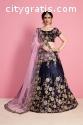 Midnight Blue Wedding Wear Lehenga Choli