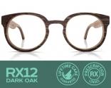 RX12 Dark Oak Eyeglasses with Prescripti