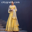 Yellow Wedding Wear Lehenga