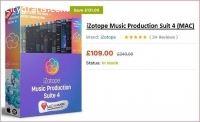 iZotope Music Production Suit 4 for Sale
