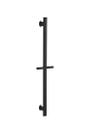 Uri Oval Shower Rail – Matte Black