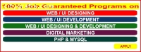 100% job guaranteed program on WEB DESIG