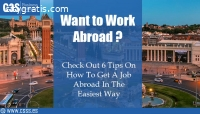 6 TIPS ON HOW TO GET A JOB ABROAD IN THE