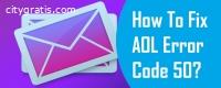 AOL Error Code 50