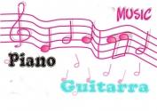 Clases piano, guitarra, casa