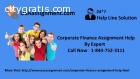 Corporate Finance Assignment Help Toll F
