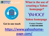 creating a Yahoo homepage?