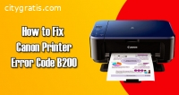 Easy Solution - Canon Printer Error B200