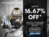 Full Headdress Football Helmet Decals