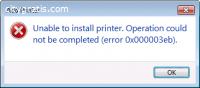 Full solution of Error 0x000003eb