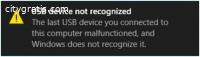 fUsb Device Not Recognized Windows 10