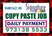 Home based Copy paste Job Daily payment