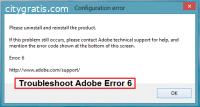 How To Fix Adobe Error 6