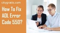 How To Fix Aol Error Code 550?