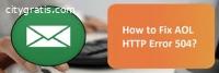 How to Fix AOL HTTP Error 504?