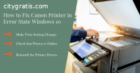 How to fix Canon Printer in Error State