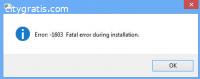 How To Fix Hp Printer Fatal Error 1603?
