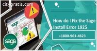 How to fix Sage 50 1925 error