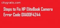 HP Elitebook Camera Error 0xa00f4244