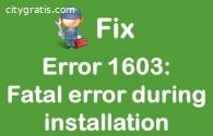 HP Printers Fatal Error 1603