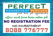 Job Without Investment and Registration