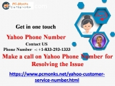 Make a call on Yahoo Phone Number for Re