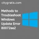 Methods to Troubleshoot Windows Update E