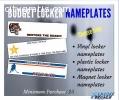 Order Personalized Locker Nameplates