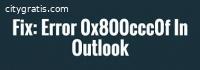 Outlook Error Code 0x800ccc0f
