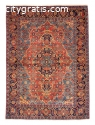 Persian Mahal Hand-knotted Wool Red Rug