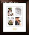 Portrait Wedding Frame with Gold Foil