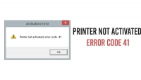 Printer Activation Error Code 41