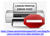 Resolve Canon Printer Error State issue