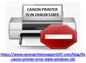 Resolve Canon Printer is in Error State