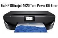 HP Officejet 4620 Turn Power Off Error