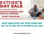 Shop Area Rugs At 80% Off in Fathers Day