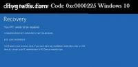Solution - Error Code 0xc0000225