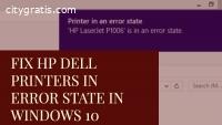 Solution of Dell Printer in Error State