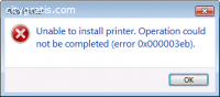 Solution of Error 0x000003eb