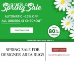 Spring Sale for Designer Area Rugs in th