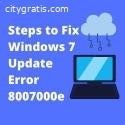 Steps to Fix Windows 7 Update Error 8007
